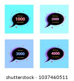 thank you followers banners.... | Shutterstock .eps vector #1037460511