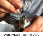 setting vape coil and  wicking... | Shutterstock . vector #1037469919