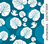 floral seamless pattern with... | Shutterstock .eps vector #1037473009