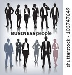 business people vector | Shutterstock .eps vector #103747649