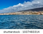 vibrant scenery and deep blue...   Shutterstock . vector #1037483314