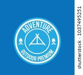 adventure vintage logo design... | Shutterstock .eps vector #1037495251