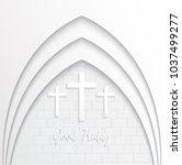 illustration of cross for good... | Shutterstock .eps vector #1037499277