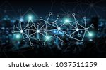 connections system and global... | Shutterstock . vector #1037511259