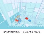 the interior of the plant with... | Shutterstock .eps vector #1037517571