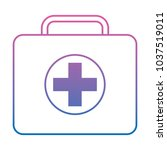 first aid kit icon image | Shutterstock .eps vector #1037519011