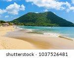 reduit beach   tropical coast...   Shutterstock . vector #1037526481