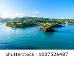 tropical coast on the caribbean ... | Shutterstock . vector #1037526487