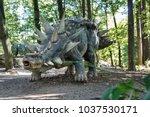 big model of prehistoric... | Shutterstock . vector #1037530171