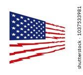 american flag vector | Shutterstock .eps vector #1037533981
