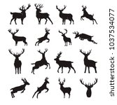 Deer Silhouette Vector Set