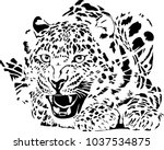 black and white vector sketch... | Shutterstock .eps vector #1037534875