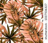 watercolor seamless pattern... | Shutterstock . vector #1037536327