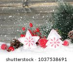 christmas fruit berries apple... | Shutterstock . vector #1037538691