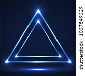 abstract neon triangle with... | Shutterstock .eps vector #1037549329