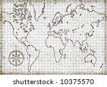 computer generated  old map of... | Shutterstock . vector #10375570