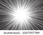 abstract black line radial zoom ... | Shutterstock .eps vector #1037557789