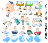 research doctor old men_travel | Shutterstock .eps vector #1037573299