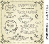 set of design elements  labels  ... | Shutterstock .eps vector #103757411