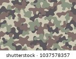 camouflage seamless pattern.... | Shutterstock .eps vector #1037578357