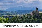 cloudy day panorama of stara... | Shutterstock . vector #1037582974
