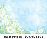 vector beautiful  floral... | Shutterstock .eps vector #1037585581