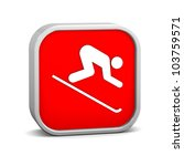downhill skiing sign on a white ... | Shutterstock . vector #103759571
