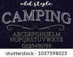 font alphabet typeface... | Shutterstock .eps vector #1037598025