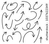 set of arrows | Shutterstock .eps vector #1037622349