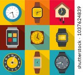sync time icons set. flat set... | Shutterstock .eps vector #1037624839