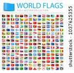 all world flags set   new... | Shutterstock .eps vector #1037625355