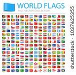 all world flags set   new...   Shutterstock .eps vector #1037625355