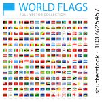 all world flags set   new... | Shutterstock .eps vector #1037625457