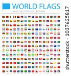 all world flags set   new... | Shutterstock .eps vector #1037625817