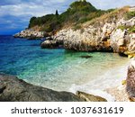 blue sea water texture coast in ... | Shutterstock . vector #1037631619