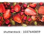 handmade chocolate bars with...   Shutterstock . vector #1037640859