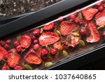 handmade chocolate with dried...   Shutterstock . vector #1037640865