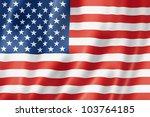 usa flag  three dimensional...   Shutterstock . vector #103764185