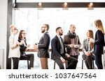 business people having a... | Shutterstock . vector #1037647564
