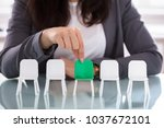close up of a businesswoman's...   Shutterstock . vector #1037672101