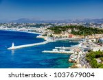 nice france harbour aerial view | Shutterstock . vector #1037679004