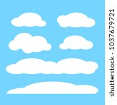 cloud vector icon set white... | Shutterstock .eps vector #1037679721