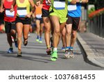 group of young runners a few...   Shutterstock . vector #1037681455