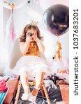 beautiful little girl...   Shutterstock . vector #1037683201