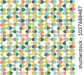 retro spring seamless pattern... | Shutterstock .eps vector #1037688487