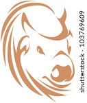creative buffalo illustration | Shutterstock .eps vector #103769609
