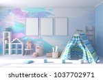 Moder Child Room With Colorful...