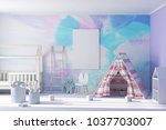 beautiful child room 3d... | Shutterstock . vector #1037703007