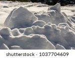 simply nature. white winter... | Shutterstock . vector #1037704609