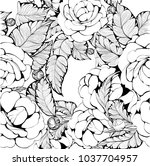 vector background. camellia  ... | Shutterstock .eps vector #1037704957